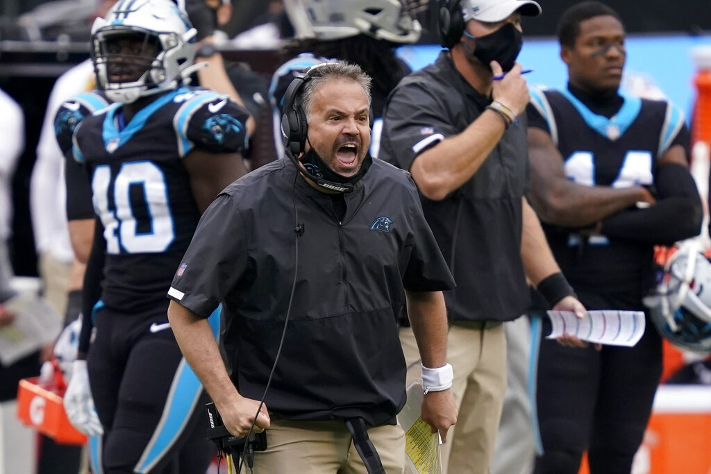 La temporada 2020 de los Carolina Panthers: mediocre